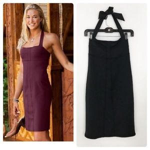 Athleta Black Sizzle Halter Dress